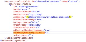 How To Extend the Global Navigation Another Level in MasterPage for SharePoint 2013